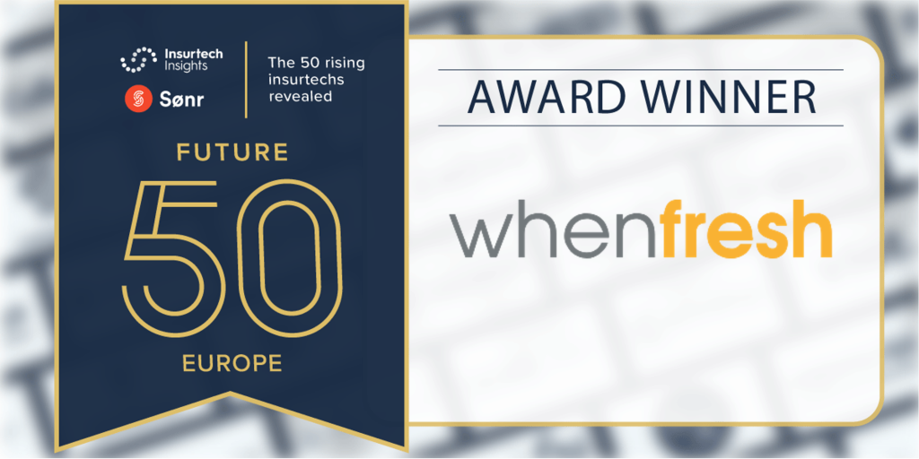 WhenFresh announced in Insurtech Insights Future50